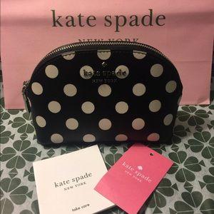 ♠️Kate Spade Spencer Cabana Dot Mini Dome Cosmetic